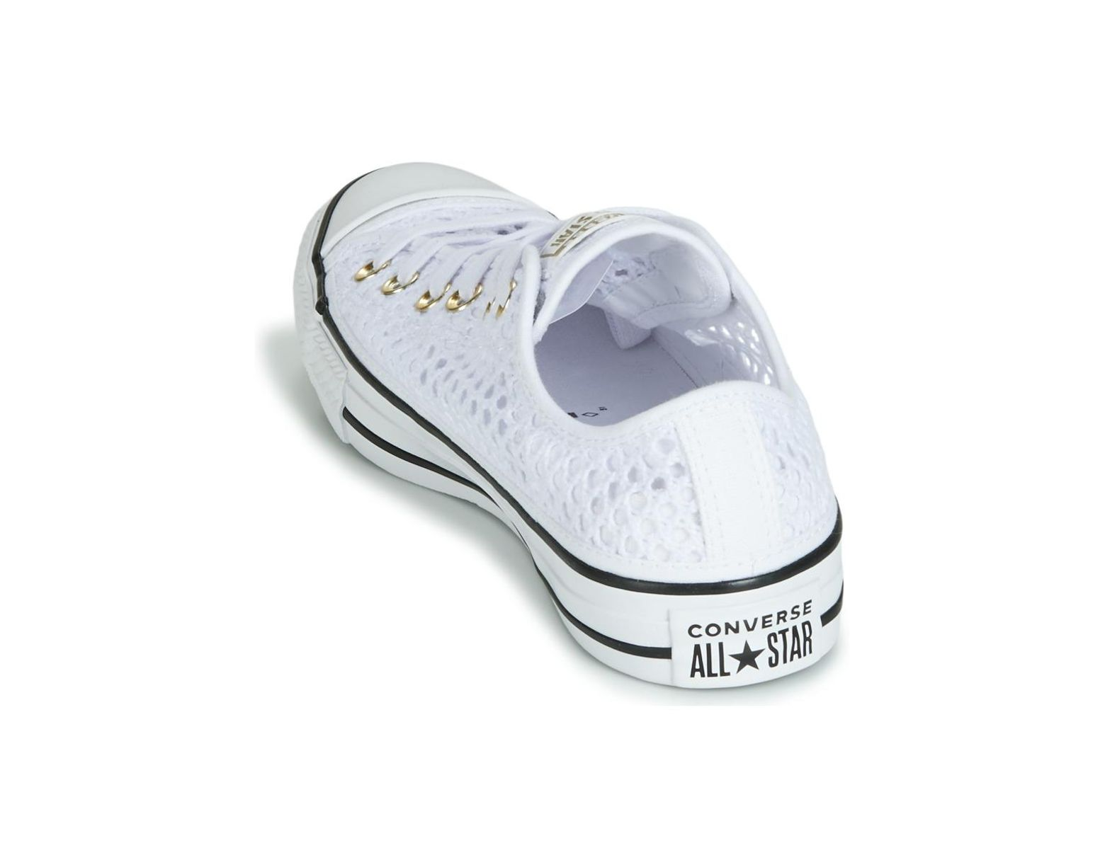 f21eab7ae54 Converse Chuck Taylor All Star Handmade Crochet Ox Shoes (trainers) in White  - Lyst
