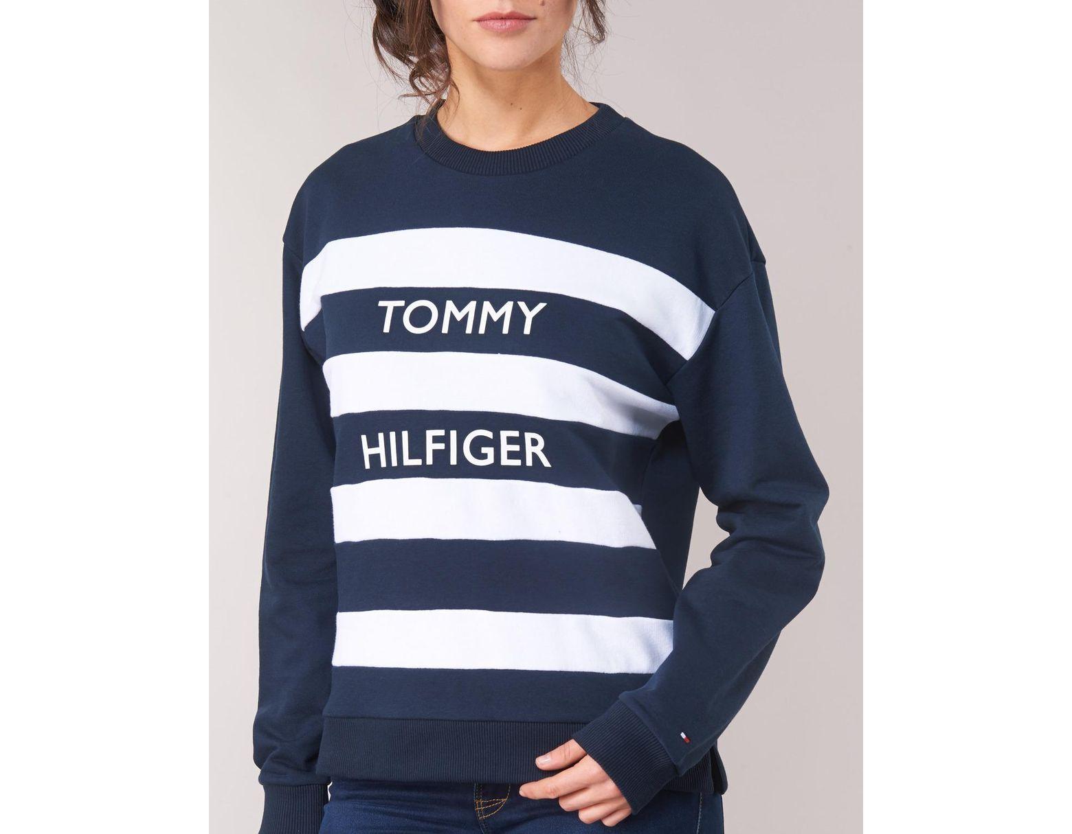 a1028b2b Tommy Hilfiger Kendra C-nk Sweat Women's Sweatshirt In Blue in Blue - Save  5% - Lyst