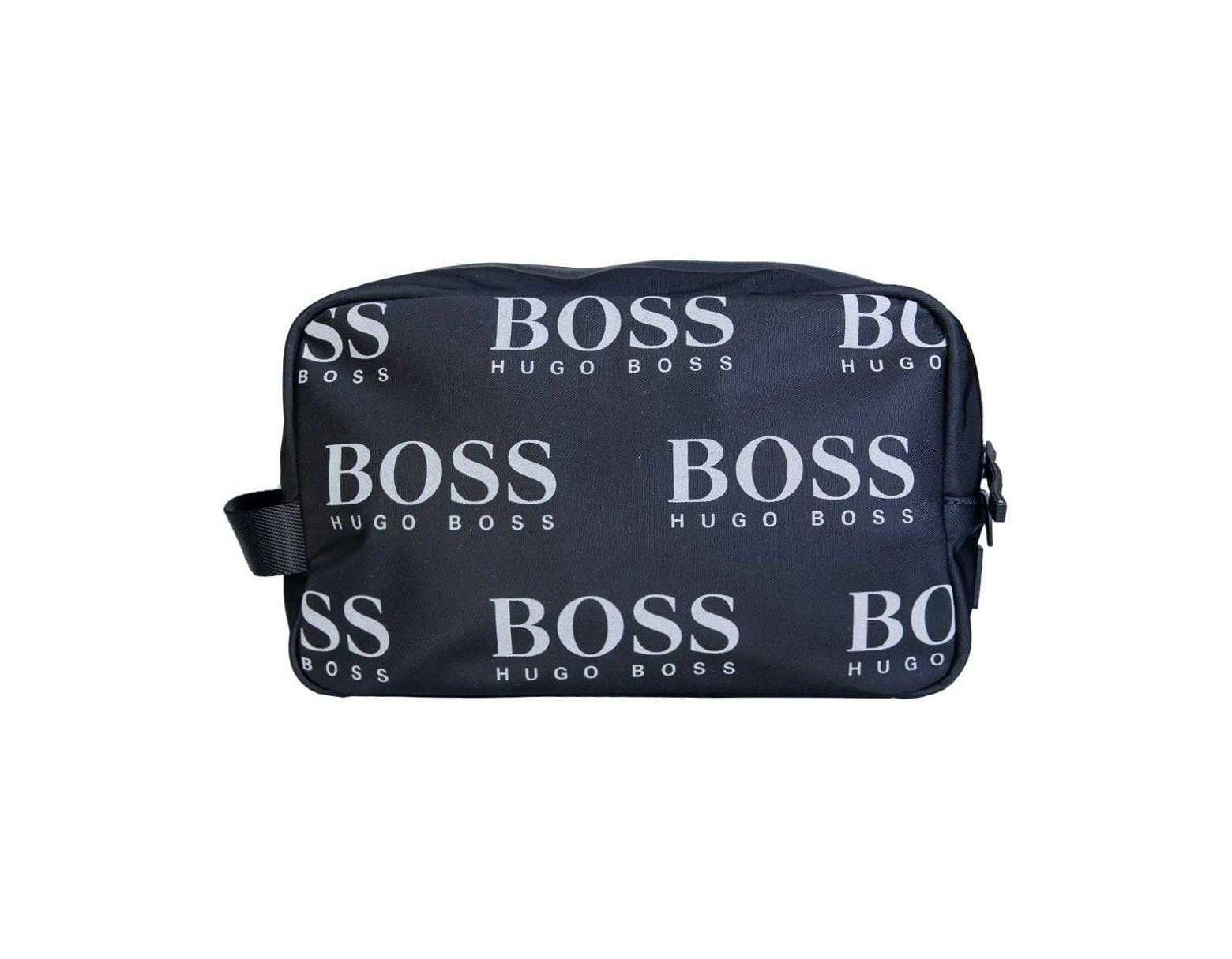7ef4e2f8183ca BOSS Bag Model Quot;iconic Washbag 50402917 Quot; Men's Cosmetic Bag In  Black in Black for Men - Lyst