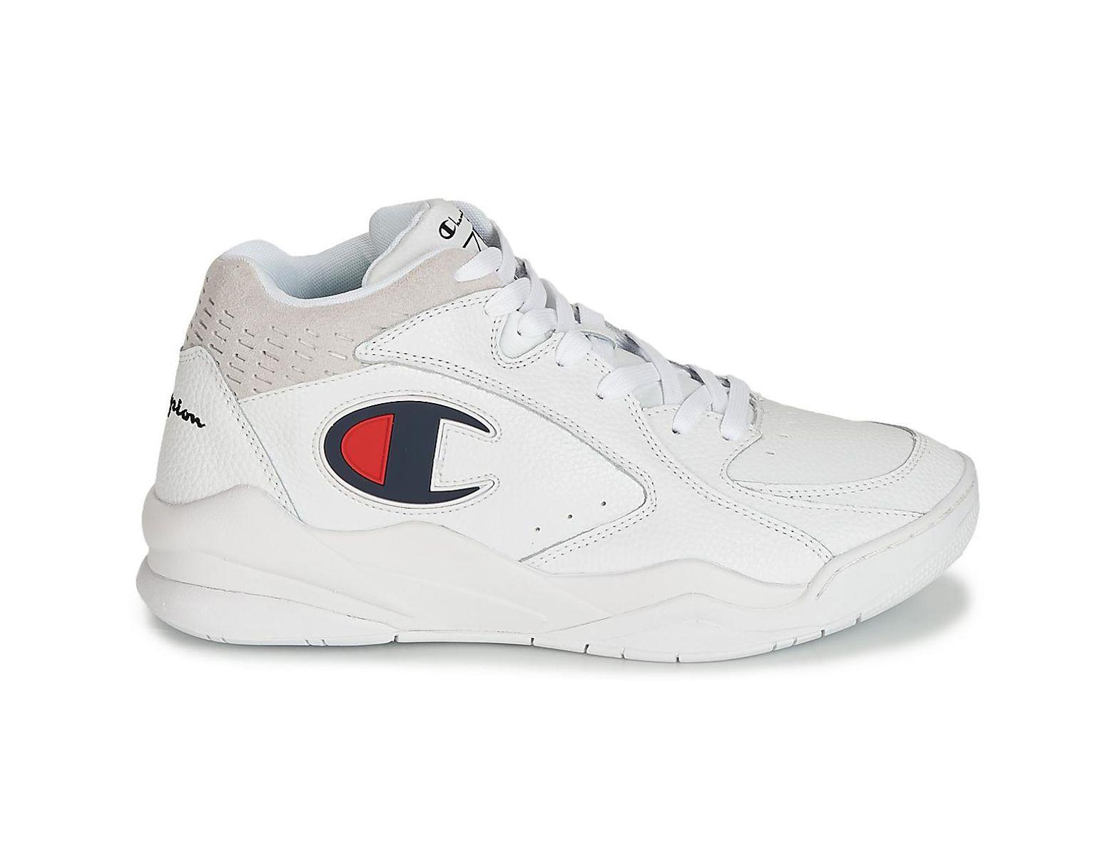 80953a8a4da72 Hommes Homme En Pour Chaussures Mid Champion Zone Blanc Coloris LMpGzVqUS