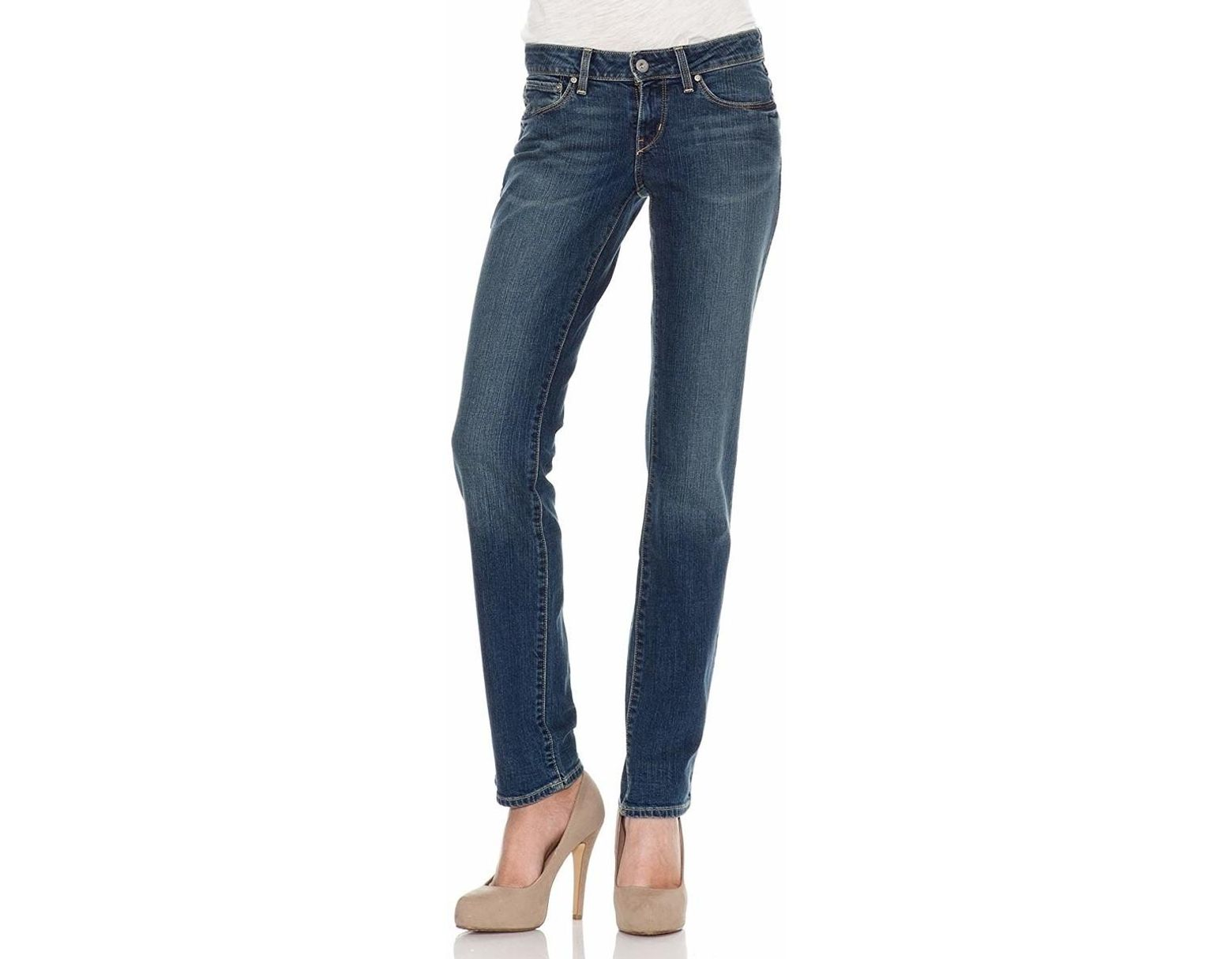 best service aesthetic appearance uk store Levis Levis Bold Curve Straight 05800-0110 Women's Skinny Jeans In Blue