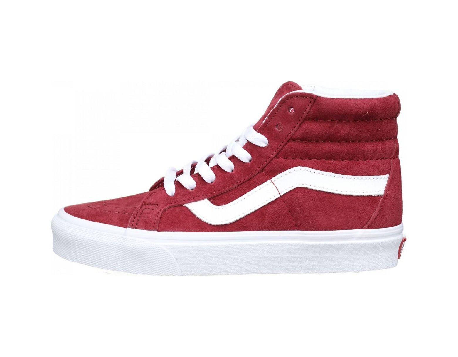 basket vans rouge femme