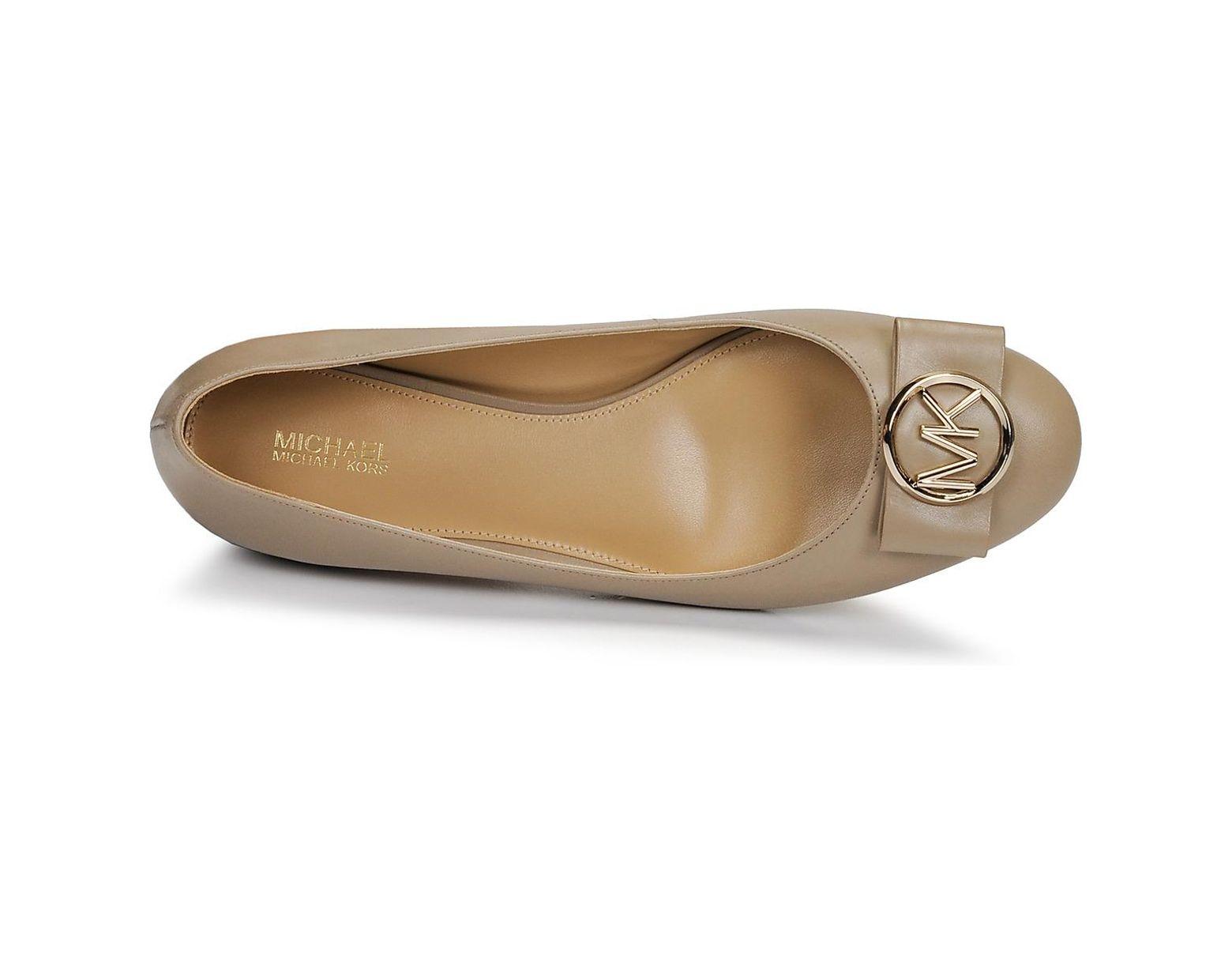 71735affb MICHAEL Michael Kors Marsha Women's Shoes (pumps / Ballerinas) In Beige in  Natural - Lyst