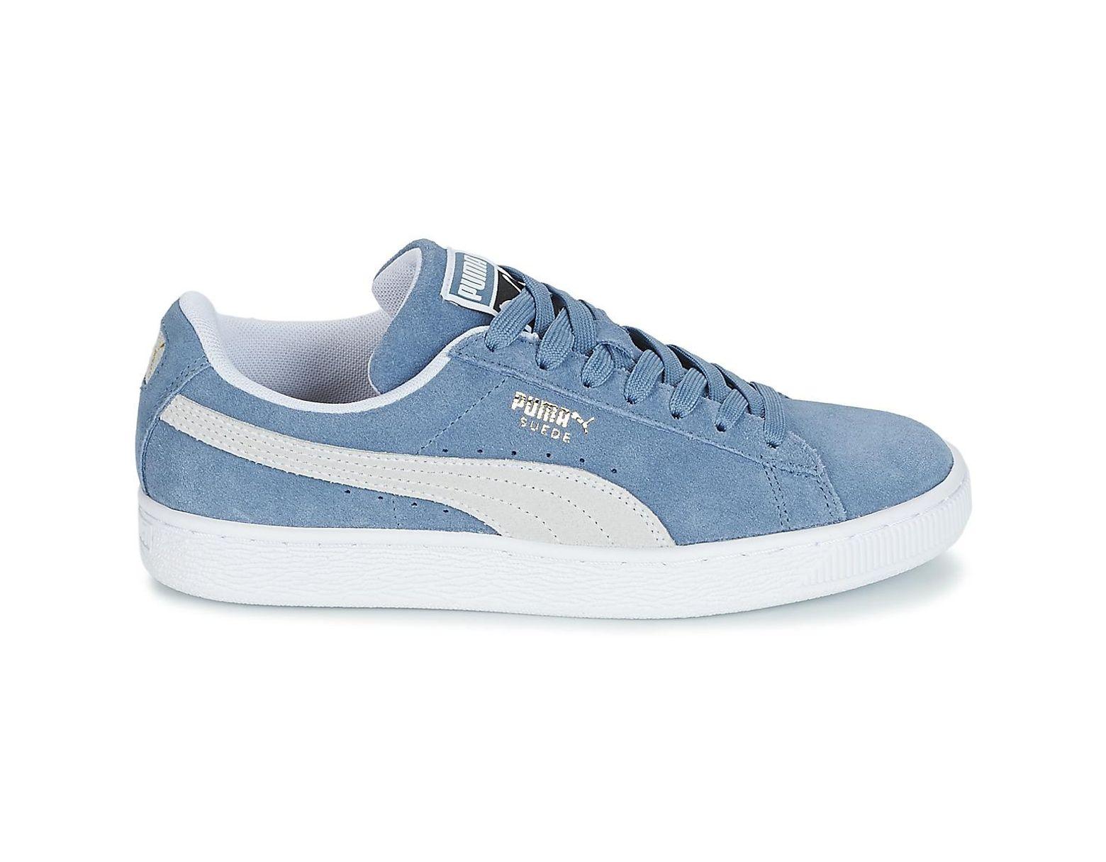 En Suede Classic Chaussures Femmes Bleu CxoBde