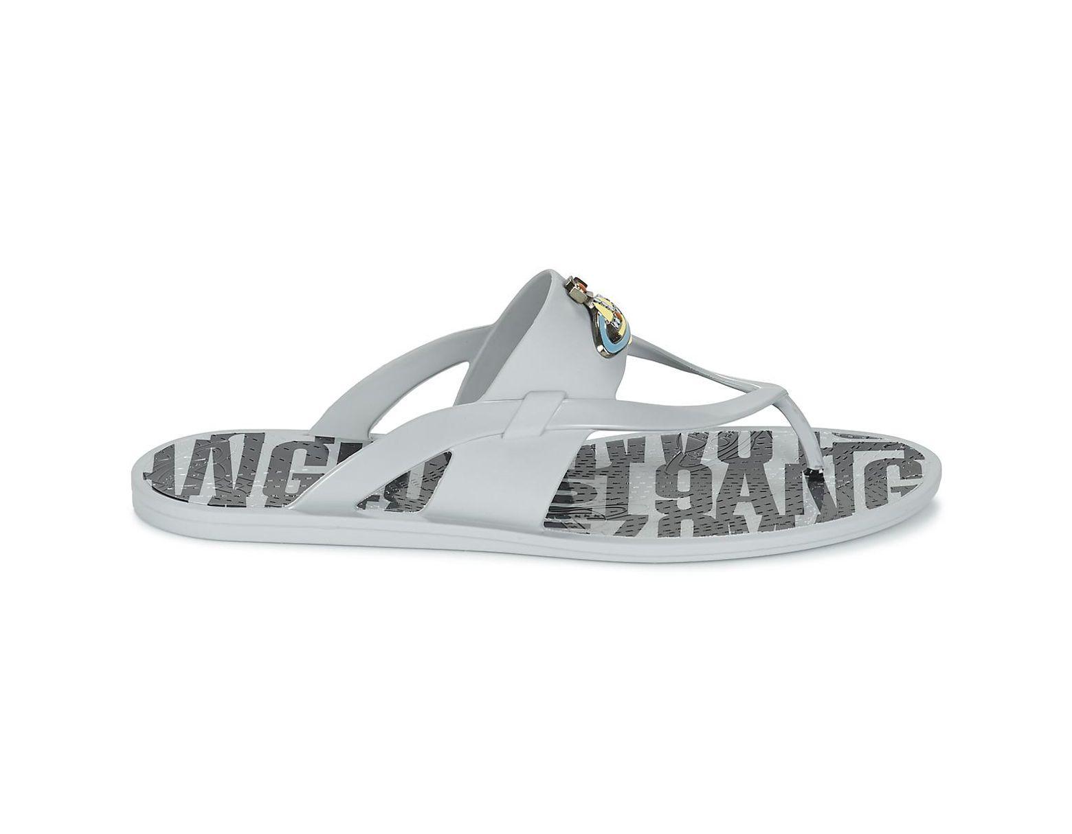c4c2f8d4a53 Vivienne Westwood Orb Enamelled Sdl Men's Flip Flops / Sandals (shoes) In  Grey in Gray for Men - Lyst