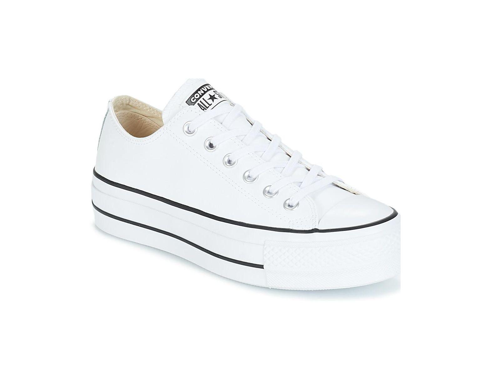 653d9352f CHUCK TAYLOR ALL STAR LIFT CLEAN OX femmes Chaussures en blanc