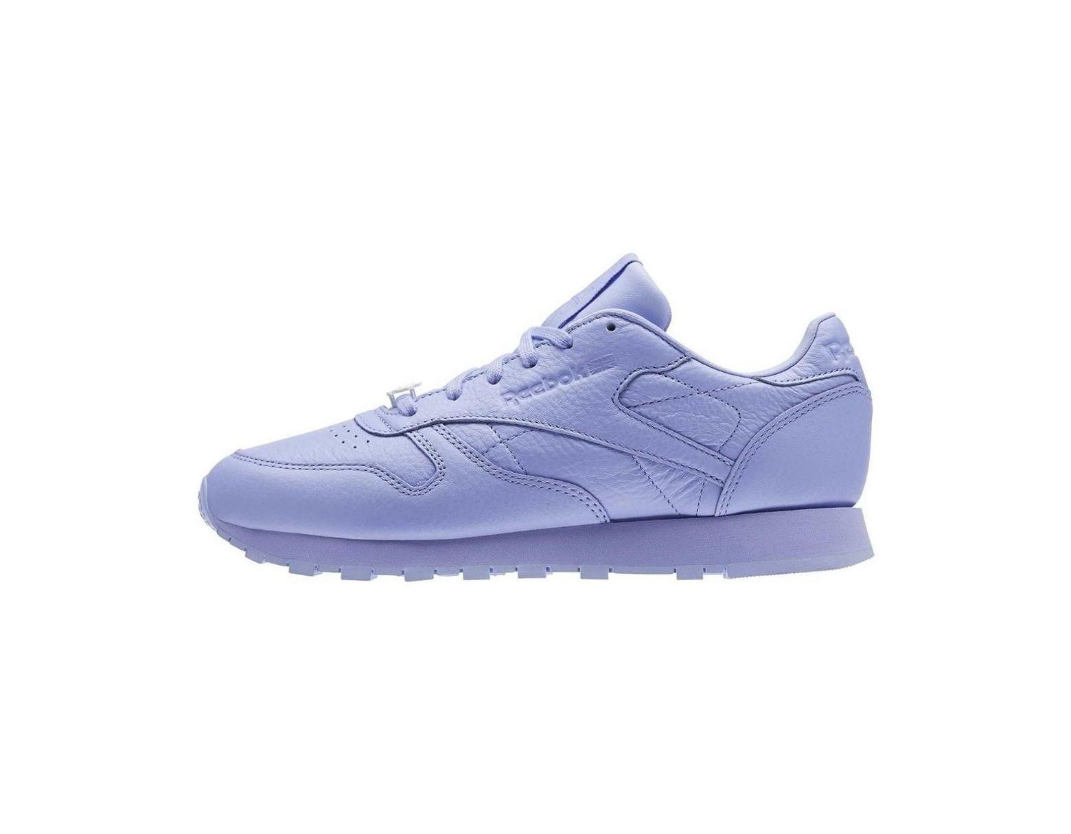 Glow En Femmes Reebok Lilac Leather Classic Violet Chaussures 5qjL4AR3