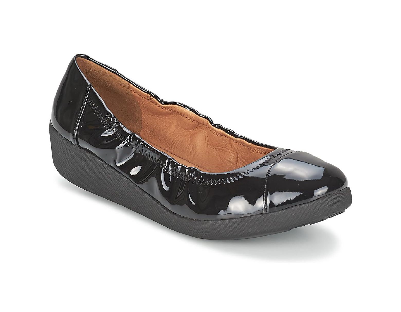 7138a97b23bbc Fitflop F-pop Ballerina Patent Women's Shoes (pumps / Ballerinas) In Black  in Black - Lyst