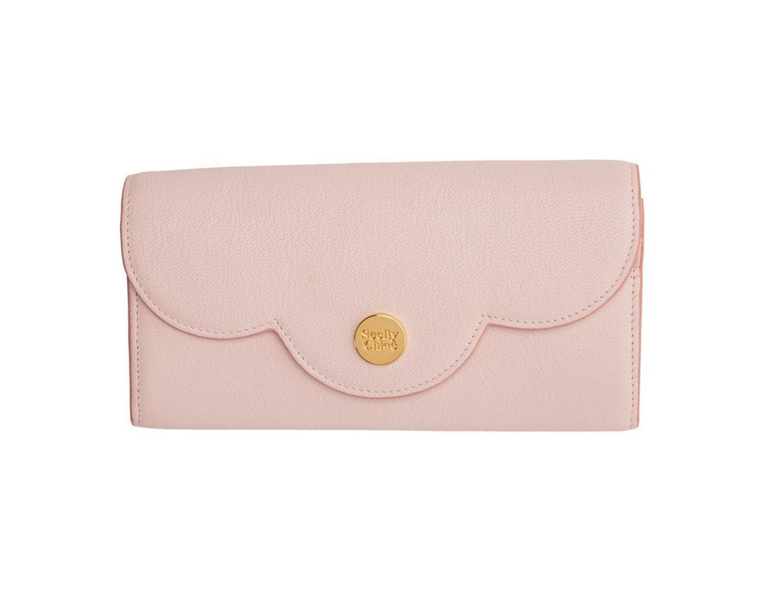 3803e49c45 See By Chloé Pink Polina Long Wallet in Pink - Lyst