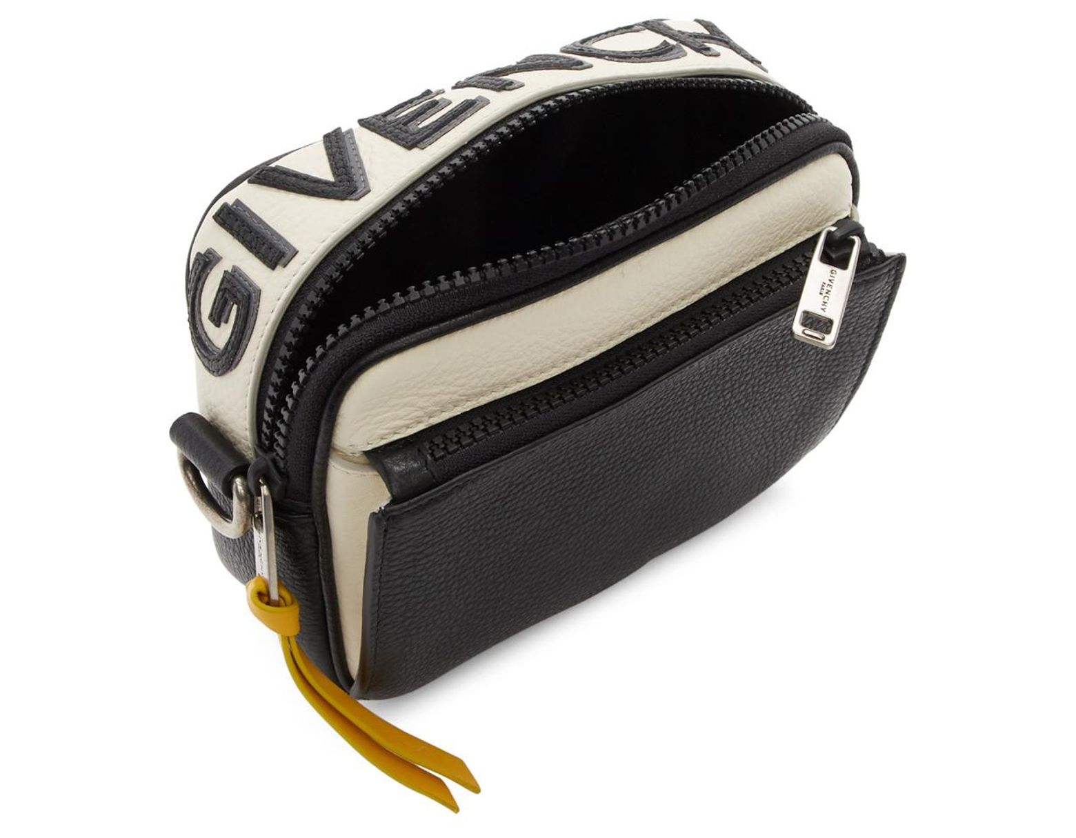 0817d6dd Givenchy Black And Yellow Reverse Logo Crossbody Bag in Black for Men - Lyst
