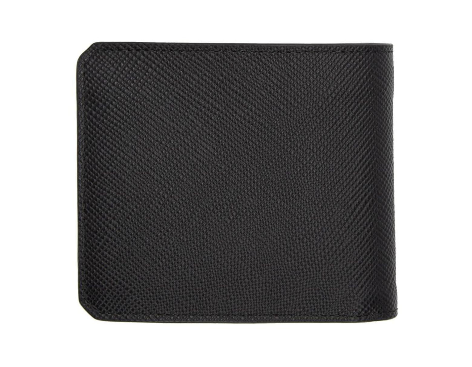 433a97d3 Men's Black Saffiano Corner Logo Wallet