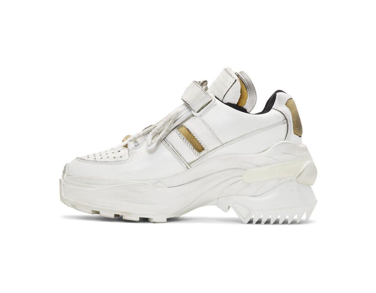 new york 14c5c 38201 Lyst - Maison Margiela White Retro Fit Sneakers