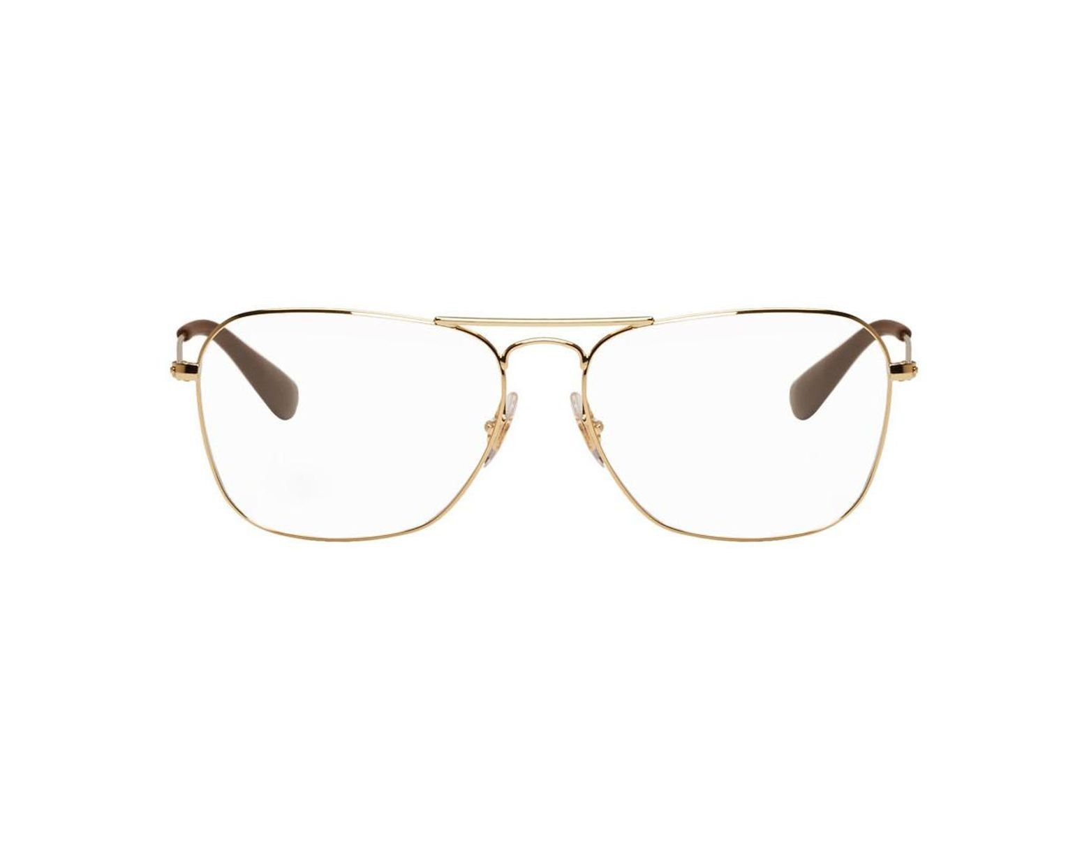 4702087d6 Ray-Ban Gold Square Rb3610v Glasses in Metallic for Men - Lyst