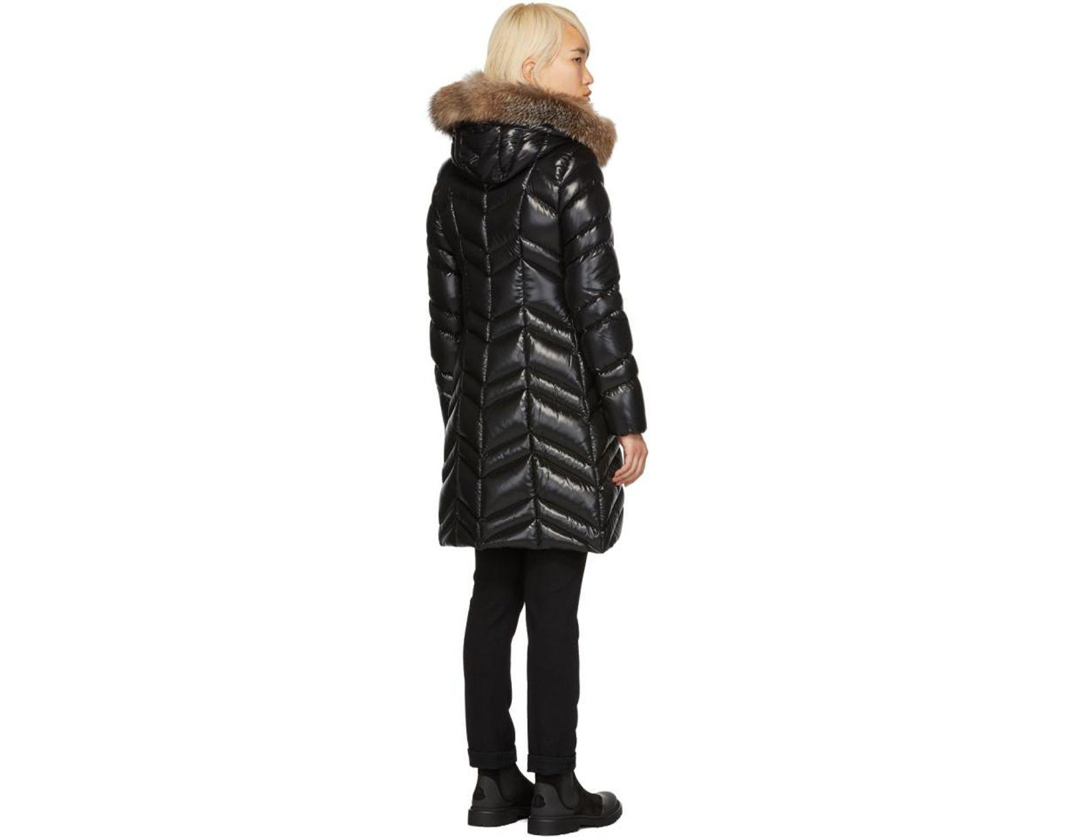 6ae26eef4 Women's Black Down And Fur Fulmar Coat