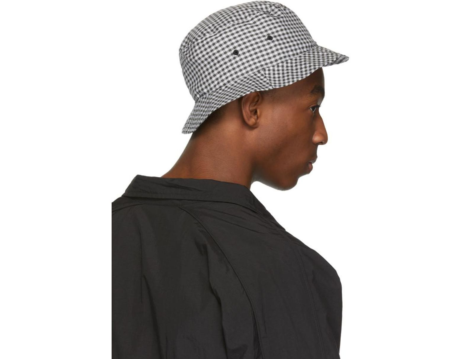 e70a5c64 Paa Black And White Gingham Bucket Hat in Black for Men - Lyst