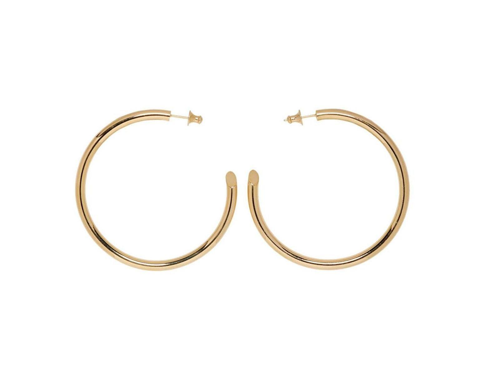 1b12d6b38 Undercover Gold Careering Edition Hoop Earrings in Metallic - Lyst