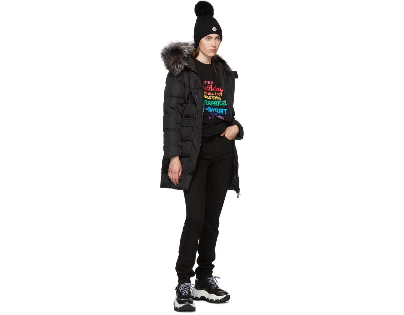 super popular 905d5 e0c37 Women's Black Down And Fur Aprhoti Coat