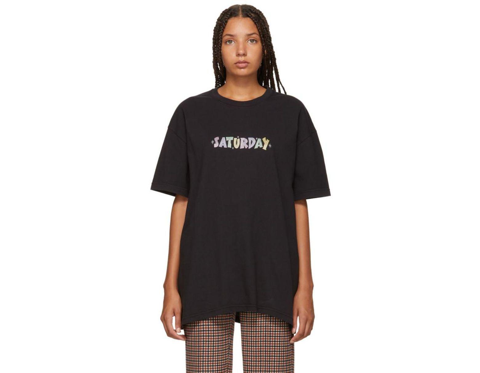5e5b535b Vetements Black Saturday Weekday T-shirt in Black - Save 54% - Lyst