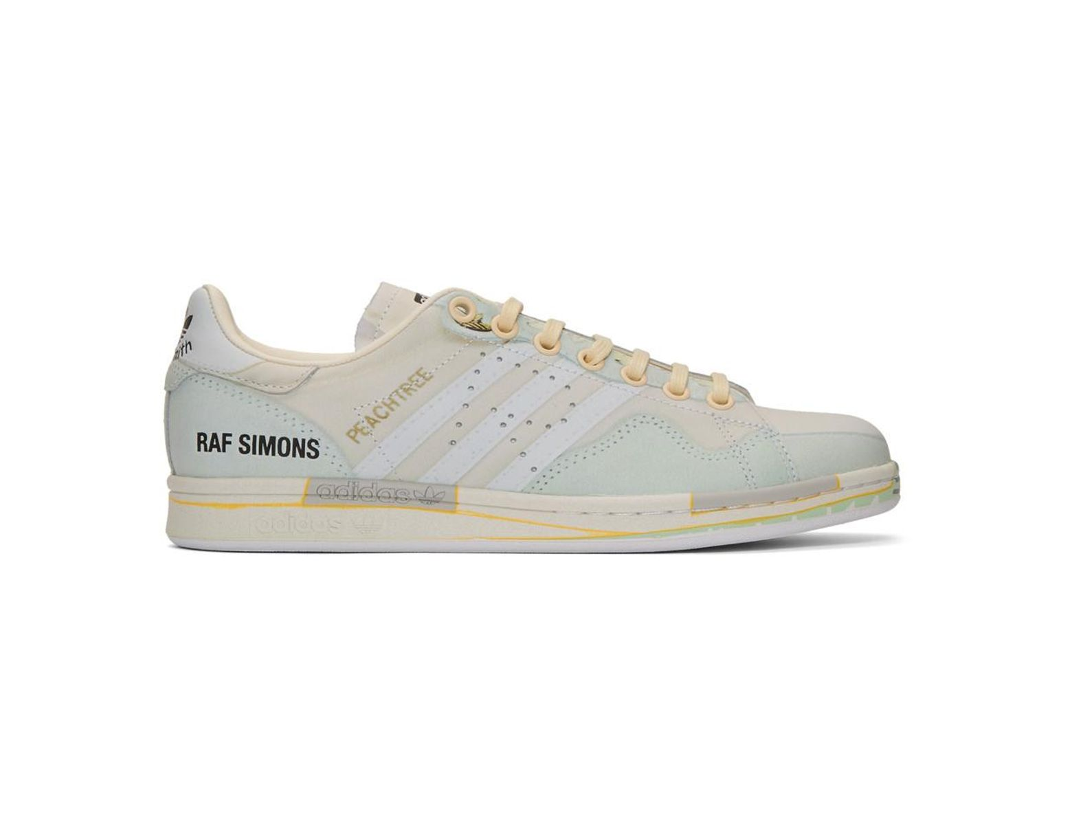 first rate f1020 64468 Raf Simons. Women s Off-white Adidas Originals Edition Peachtree Stan Smith  Sneakers