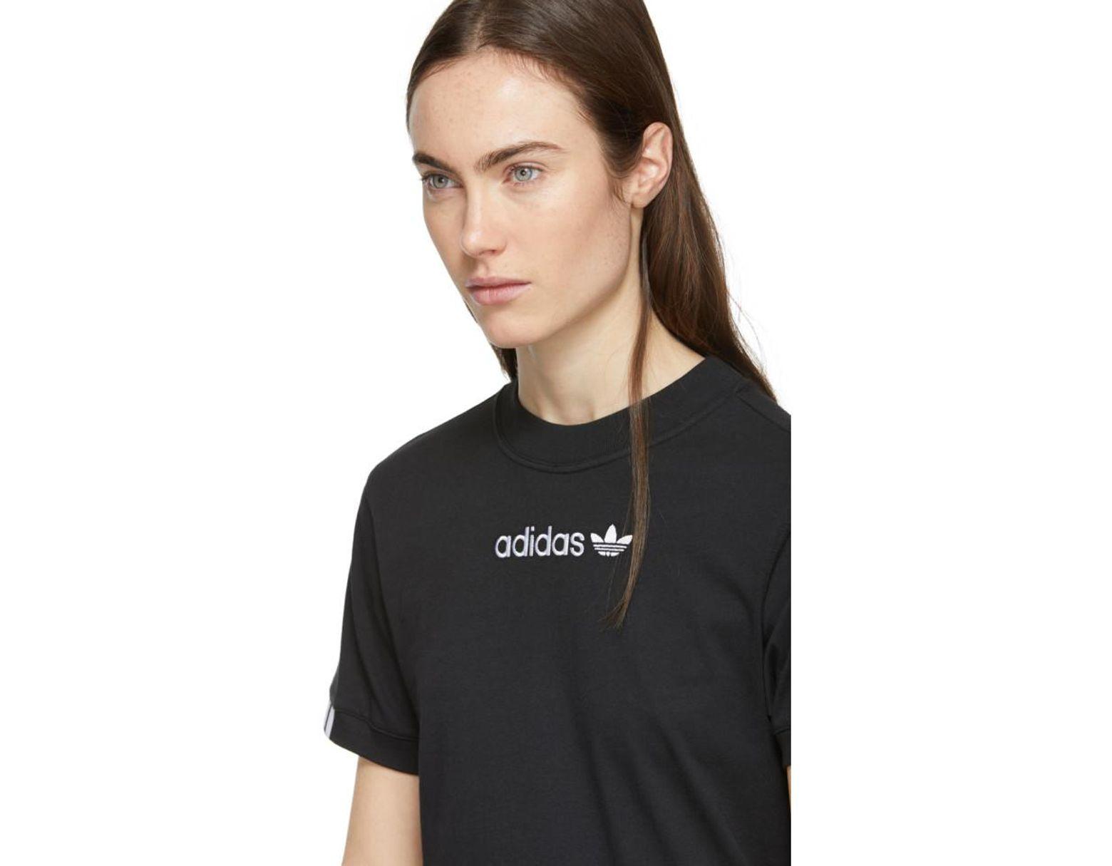 premium selection 253c1 62750 adidas Originals Black Coeeze T-shirt in Black - Lyst