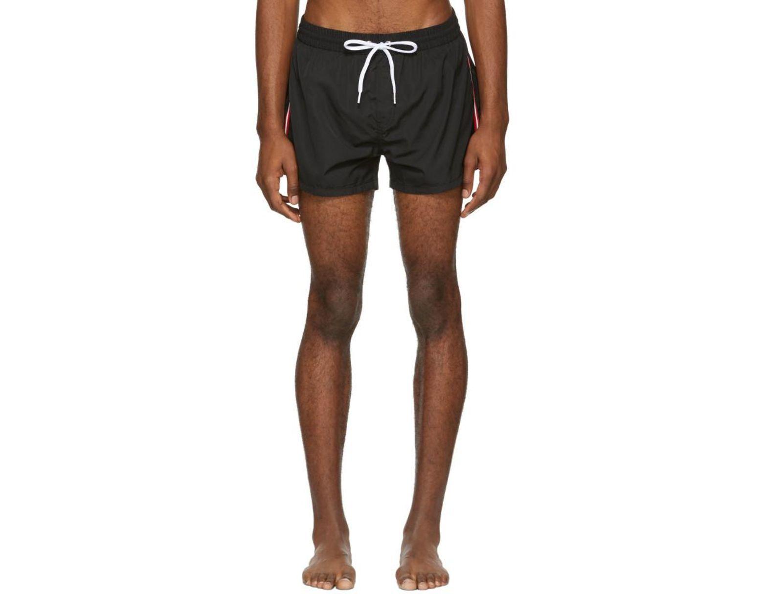 70cbfe64b9 DIESEL Black Striped Bmbx-sandy Swim Shorts in Black for Men - Lyst