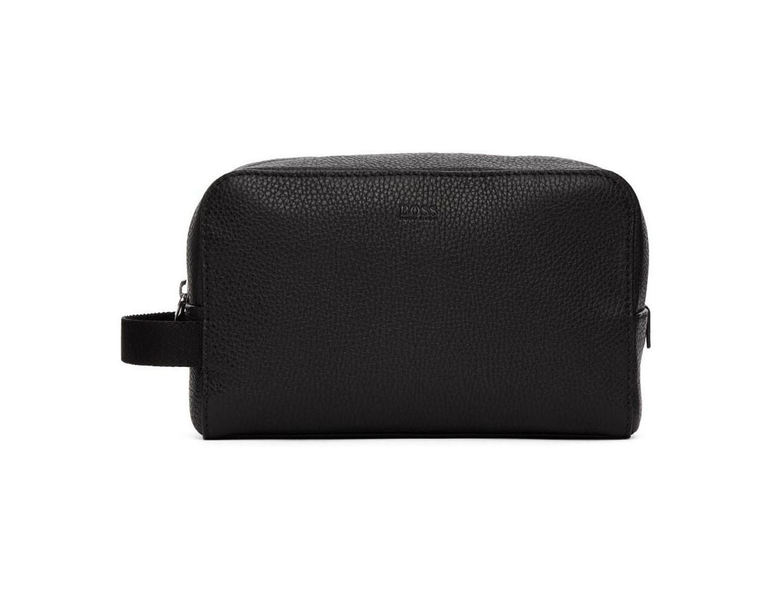 a4cd833ff0c BOSS Black Crosstown Wash Bag in Black for Men - Lyst