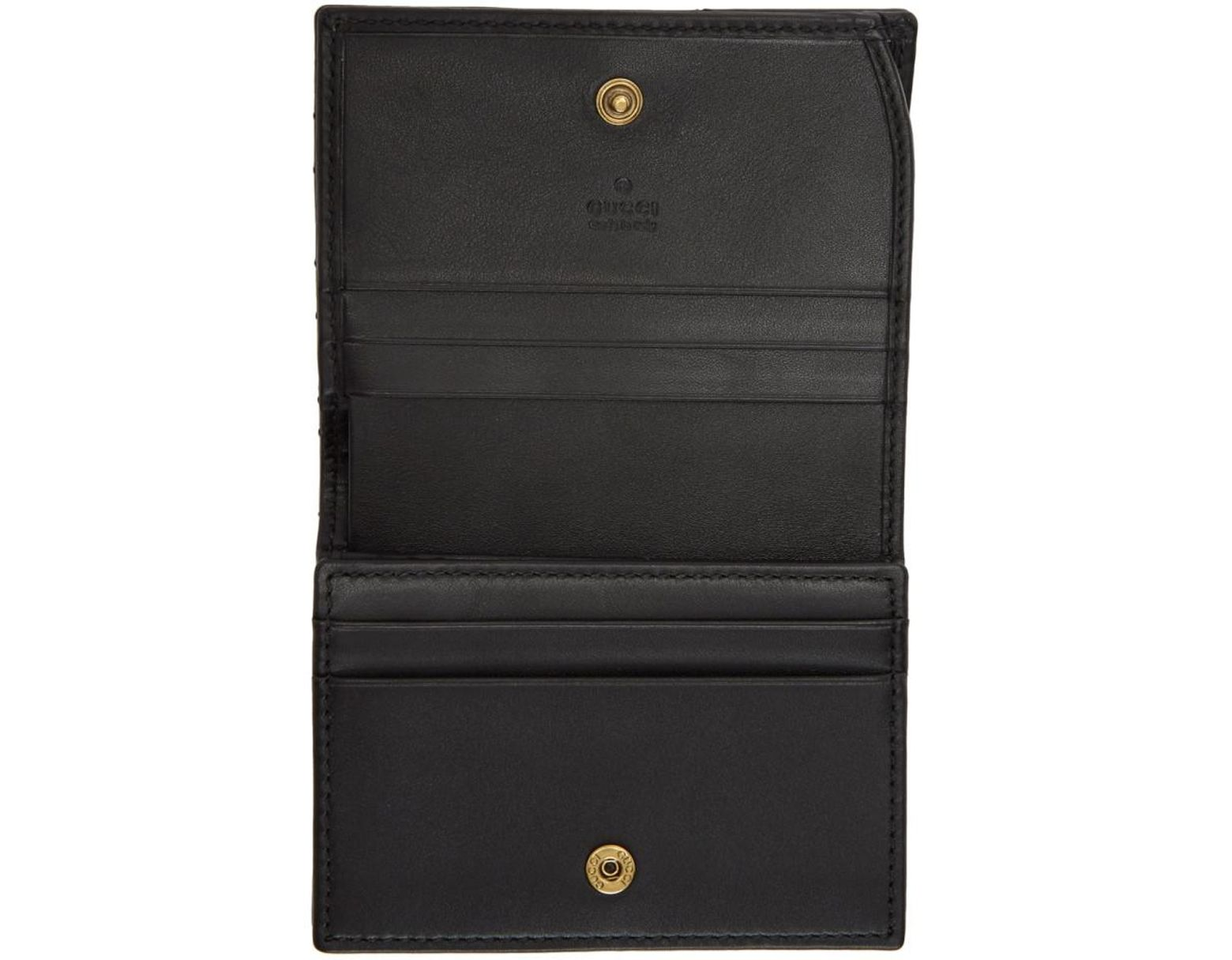 6e250114c33ab5 Gucci Black Small GG Marmont Wallet in Black - Save 11% - Lyst