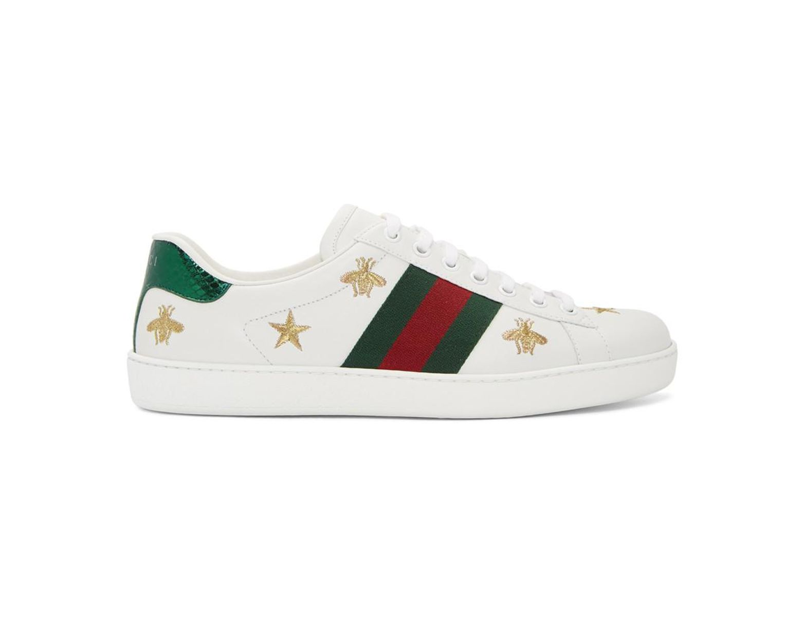 c514ffdcb Gucci White Bee And Star New Ace Sneakers in White for Men - Lyst