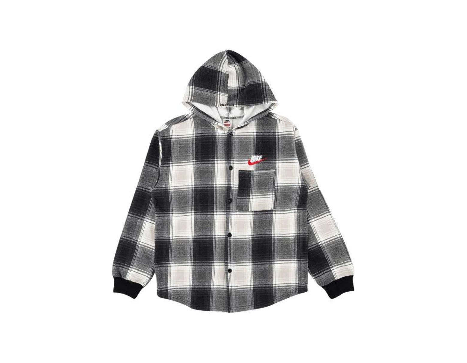 b7aa9c53 Supreme Nike Plaid Hooded Sweatshirt 'fw 18' in Black for Men - Save 2% -  Lyst
