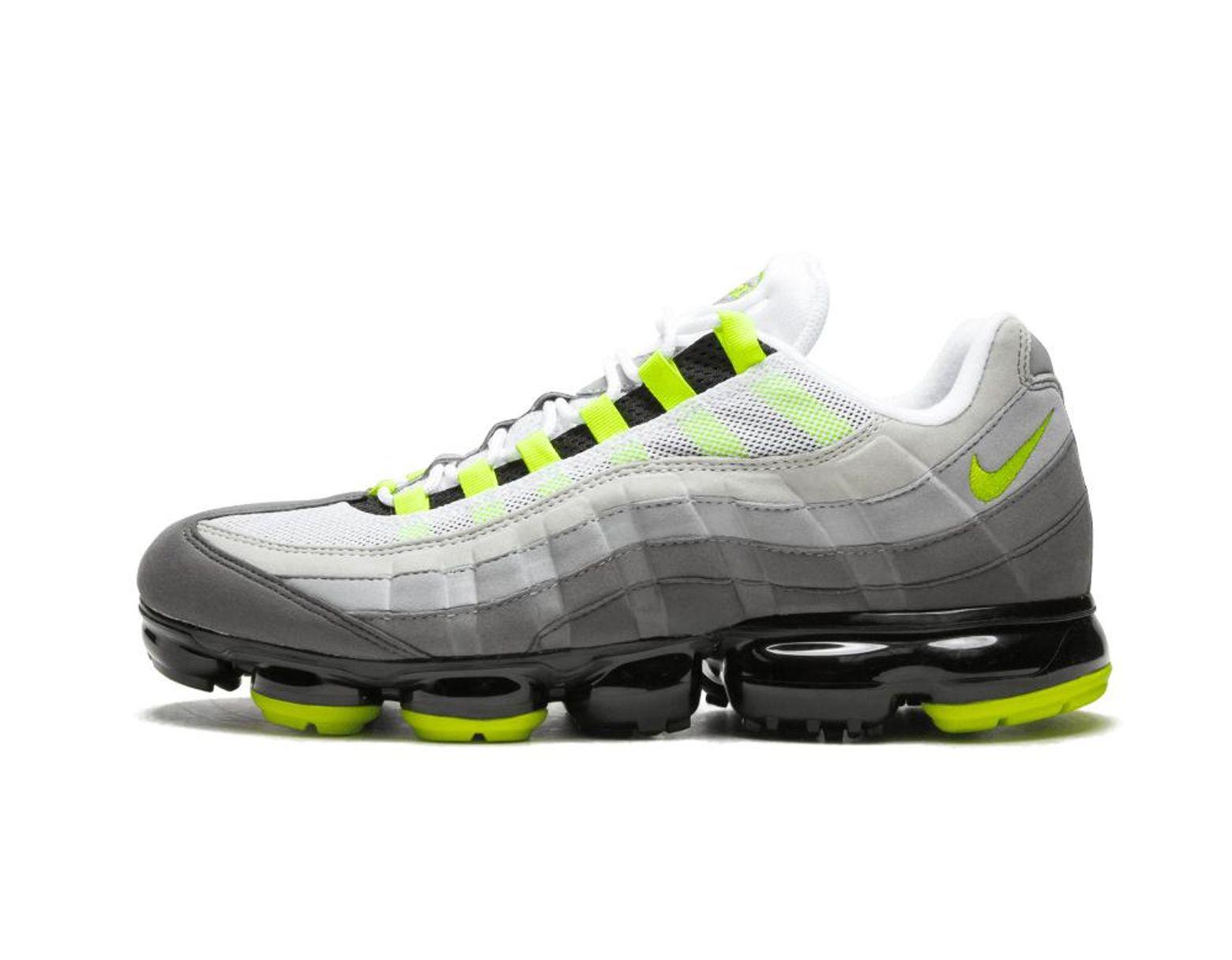 quality design e2385 9550d Men's Black Air Vapormax '95 'neon' - Size 7.5