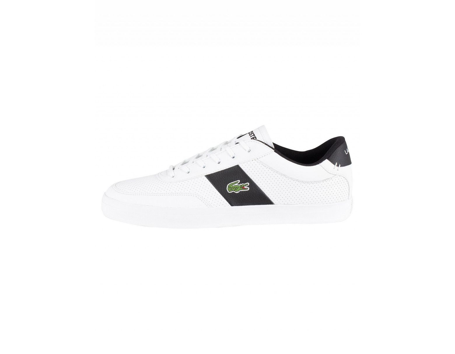 9dc142687 Lacoste White/black Court-master 119 2 Leather Trainers in White for Men -  Save 38% - Lyst