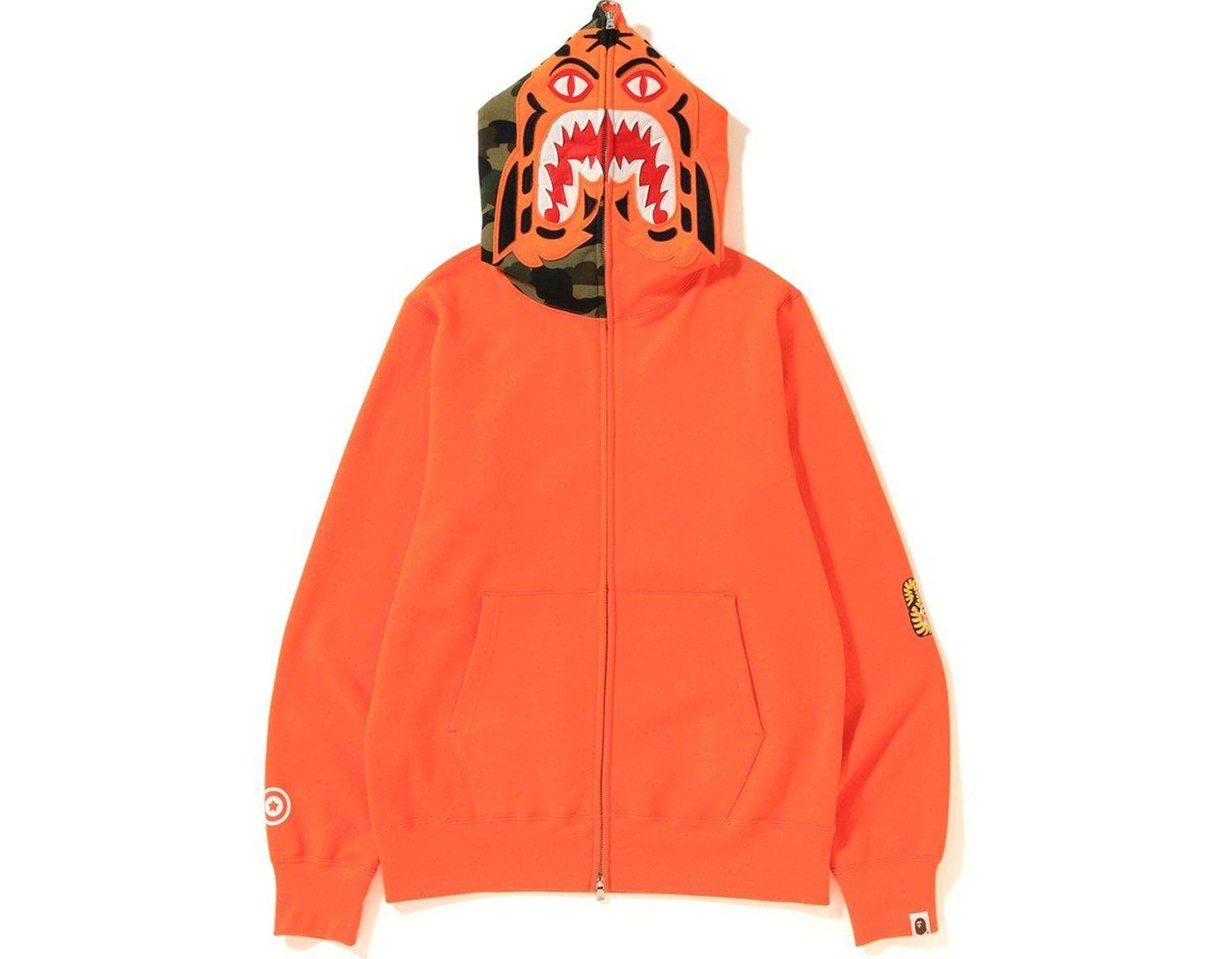 f9bebbb2 A Bathing Ape Tiger Full Zip Hoodie (ss19) Orange in Orange for Men - Lyst