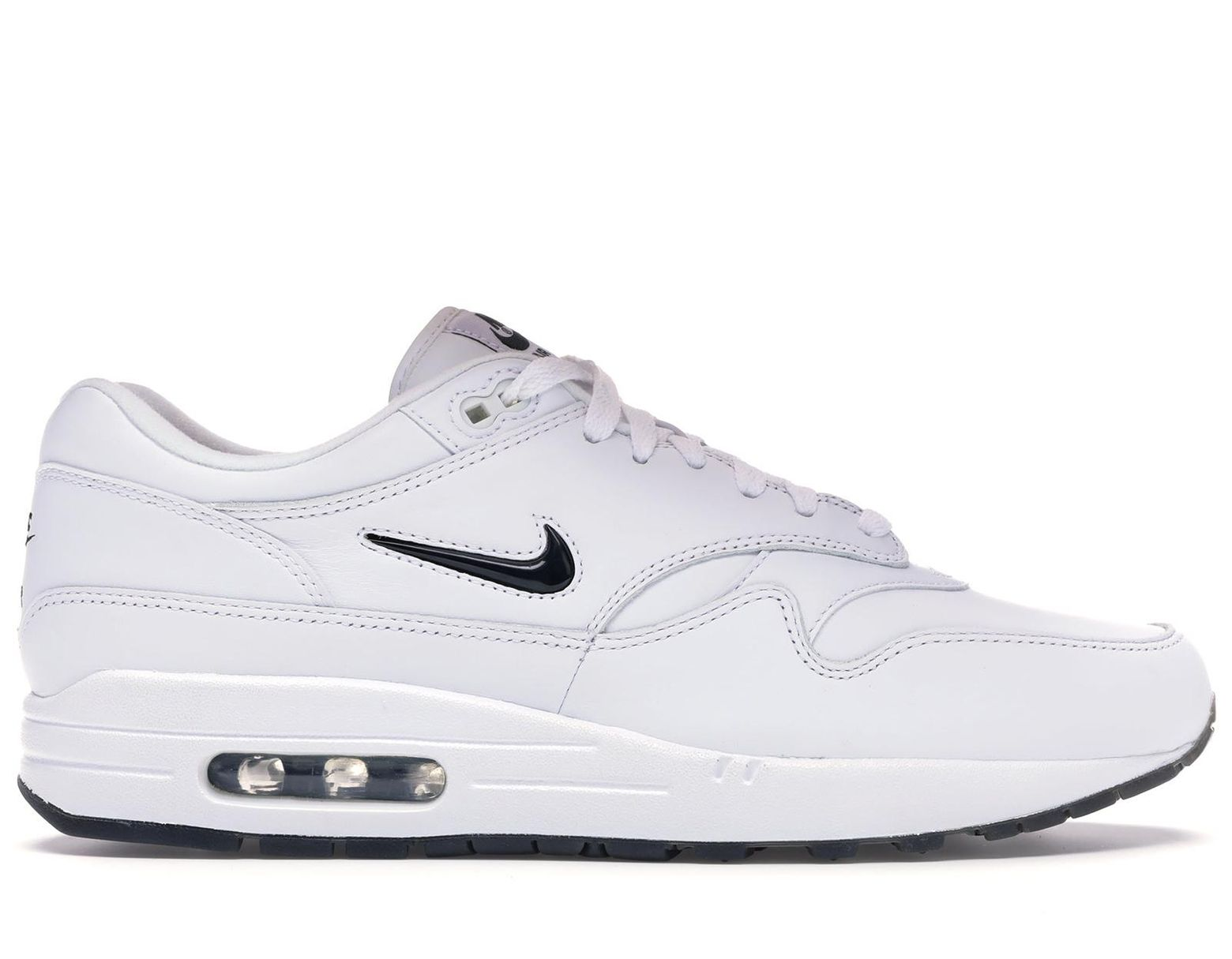 sneakers for cheap closer at differently Men's White Air Max 1 Jewel Black Diamond