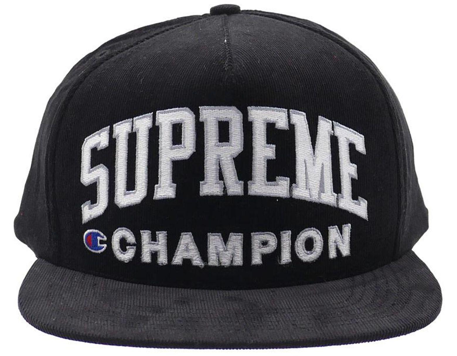 de6aa94b Supreme Champion 5-panel (ss17) Black in Black for Men - Lyst
