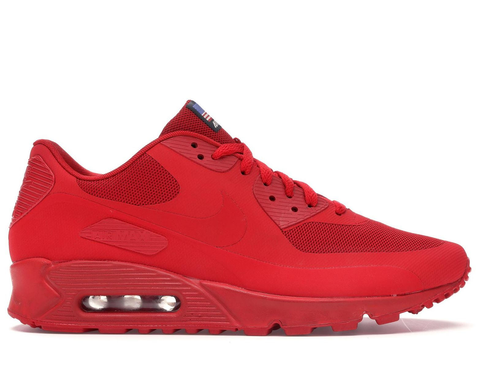 plus de photos 14527 14138 Men's Air Max 90 Hyperfuse Independence Day Red
