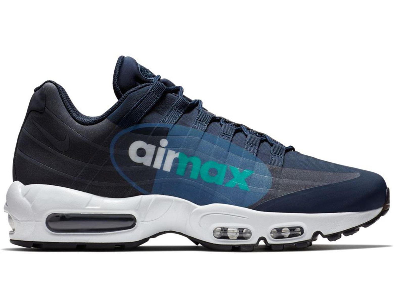 release date 42b87 42b17 Men's Blue Air Max 95 Big Logo Slate