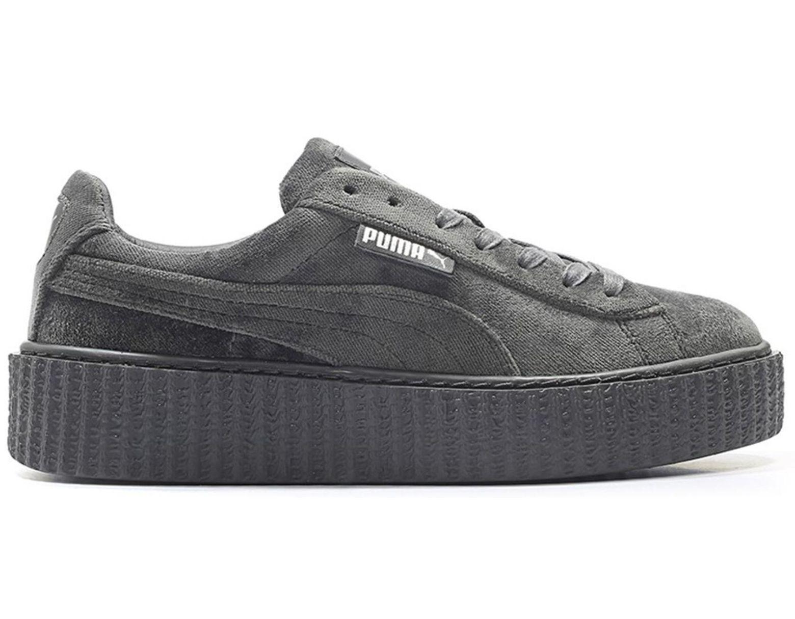 separation shoes e1396 37bc5 Women's Creeper Velvet Rihanna Fenty Glacier Gray (w)