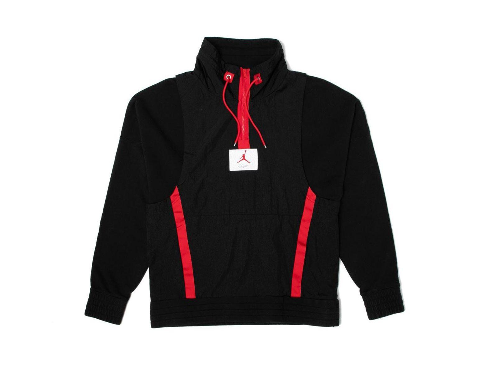 d6615861 Nike X Union Nrg Vault Aj Flight 1/2 Zip Jacket Black in Black for Men -  Lyst