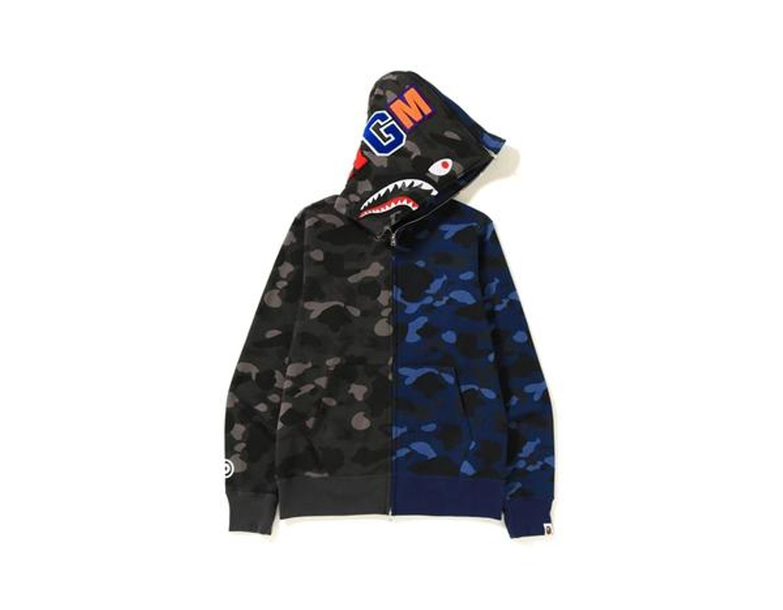 e2c340c3 A Bathing Ape Color Camo Separate Shark Full Zip Hoodie Black/blue in Blue  for Men - Lyst