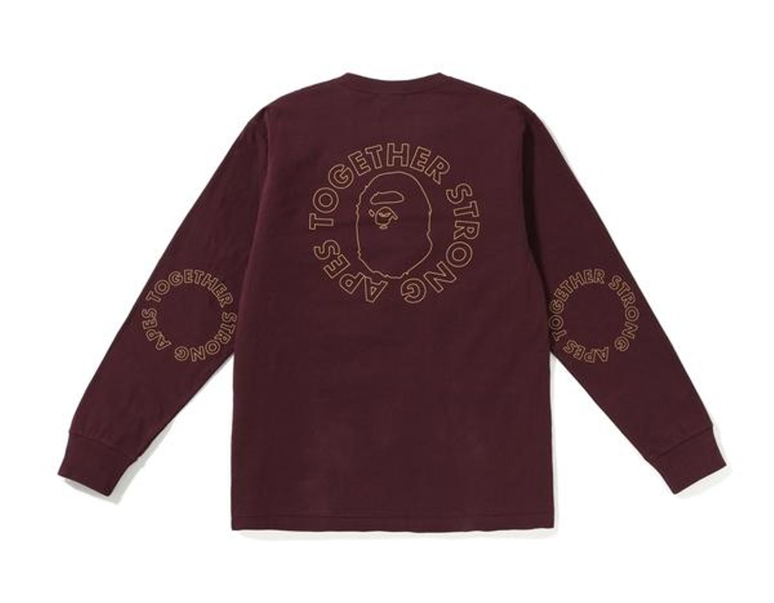 7fec2b263 A Bathing Ape Ats Circle Ls Tee Burgundy in Purple for Men - Lyst