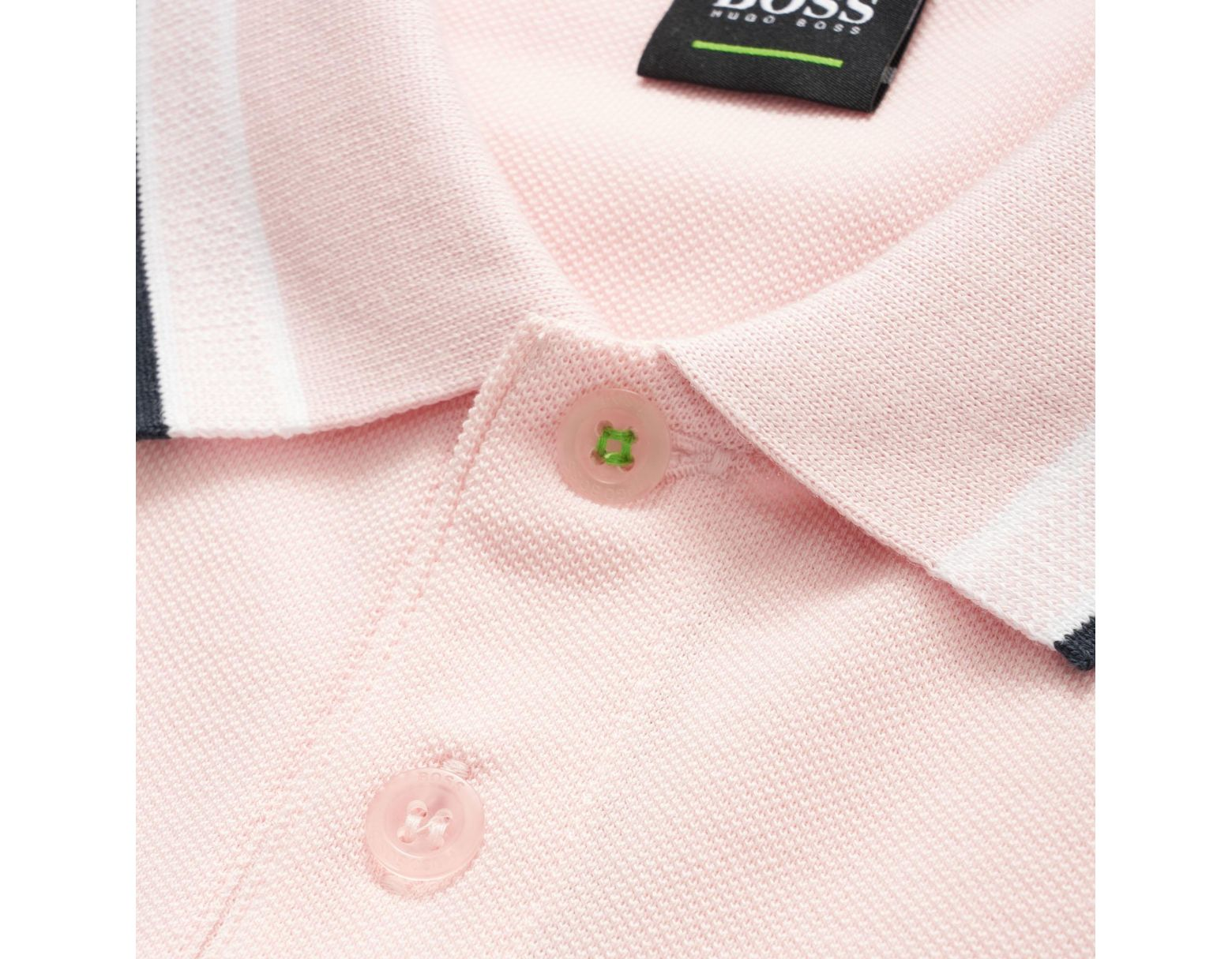afab63517 BOSS Pink Paddy Polo Shirt in Pink for Men - Lyst