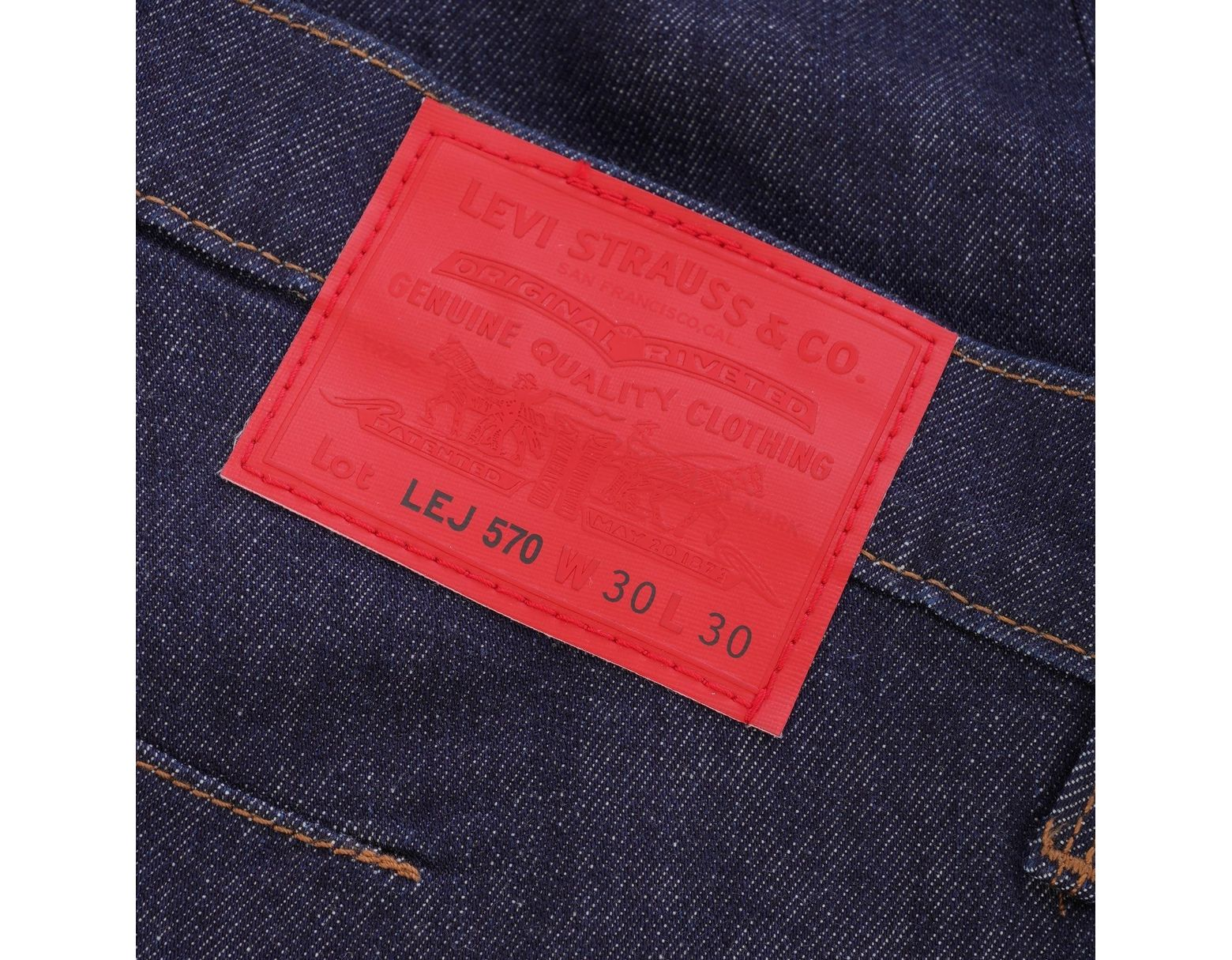 Men's Tapered Rinse Fit Blue Jeans Baggy 570 WexCordB