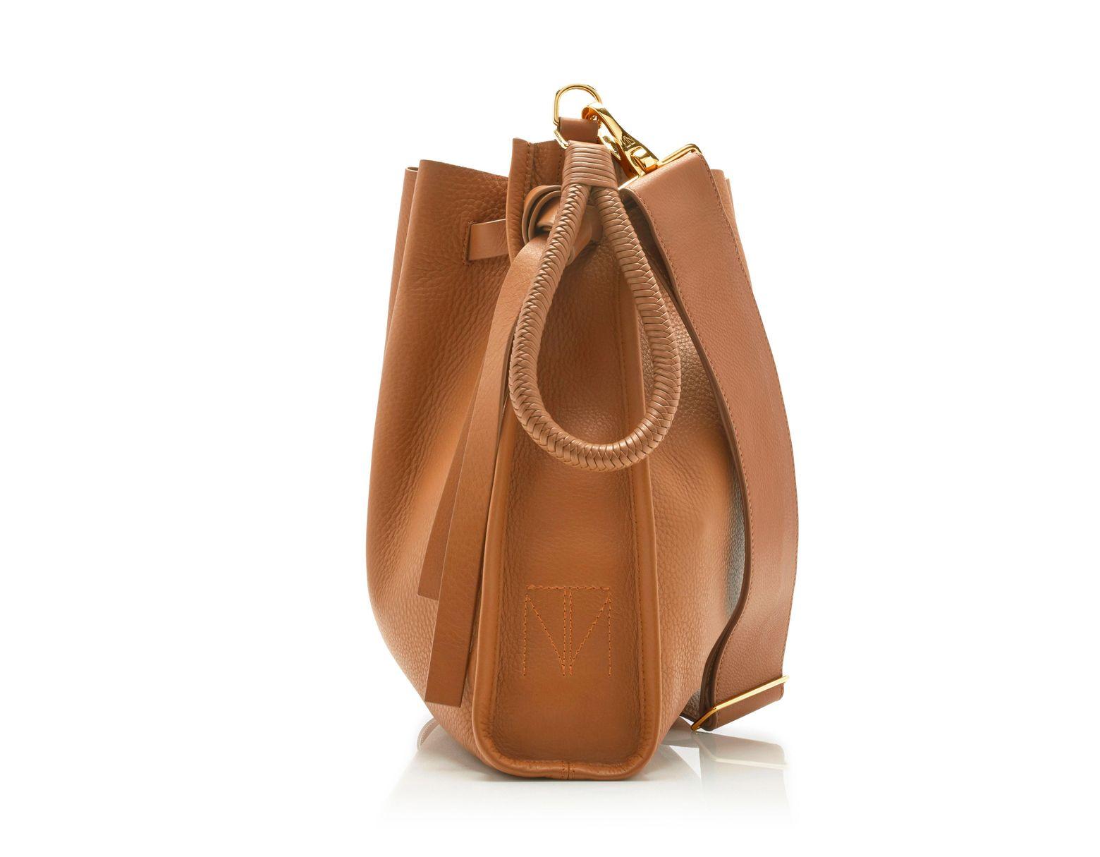 3a3c219883 Tamara Mellon Kiss Bag - Vitello in Brown - Lyst