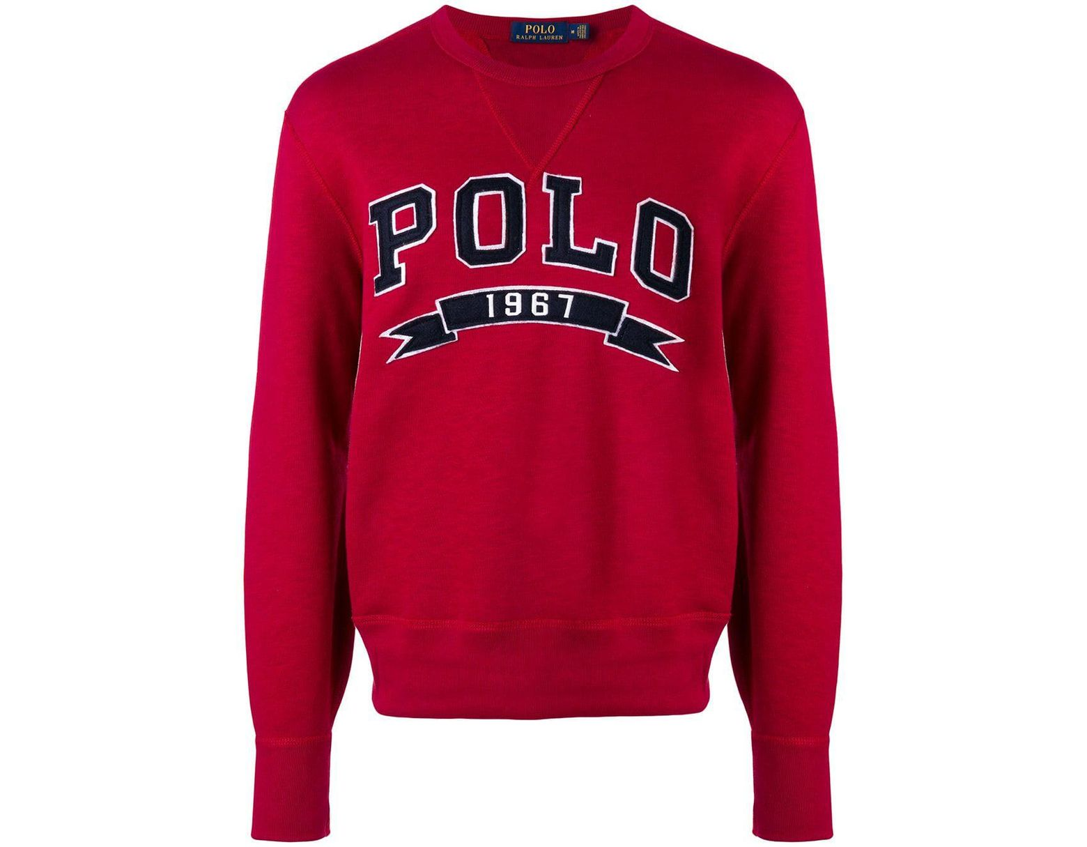 1967 Men's Men's 1967 Polo Sweatshirt Polo Sweatshirt Red Red sQrCxthd