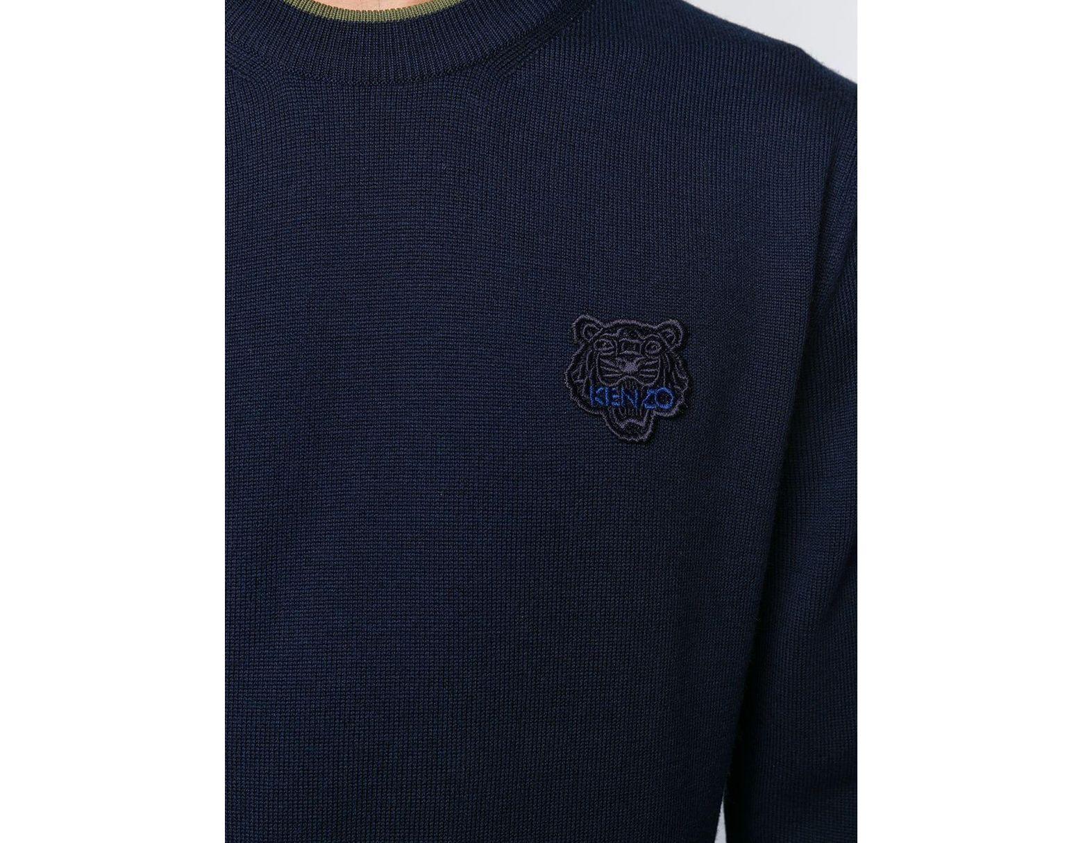 bedd20fd KENZO Wool Sweatshirt in Blue for Men - Lyst