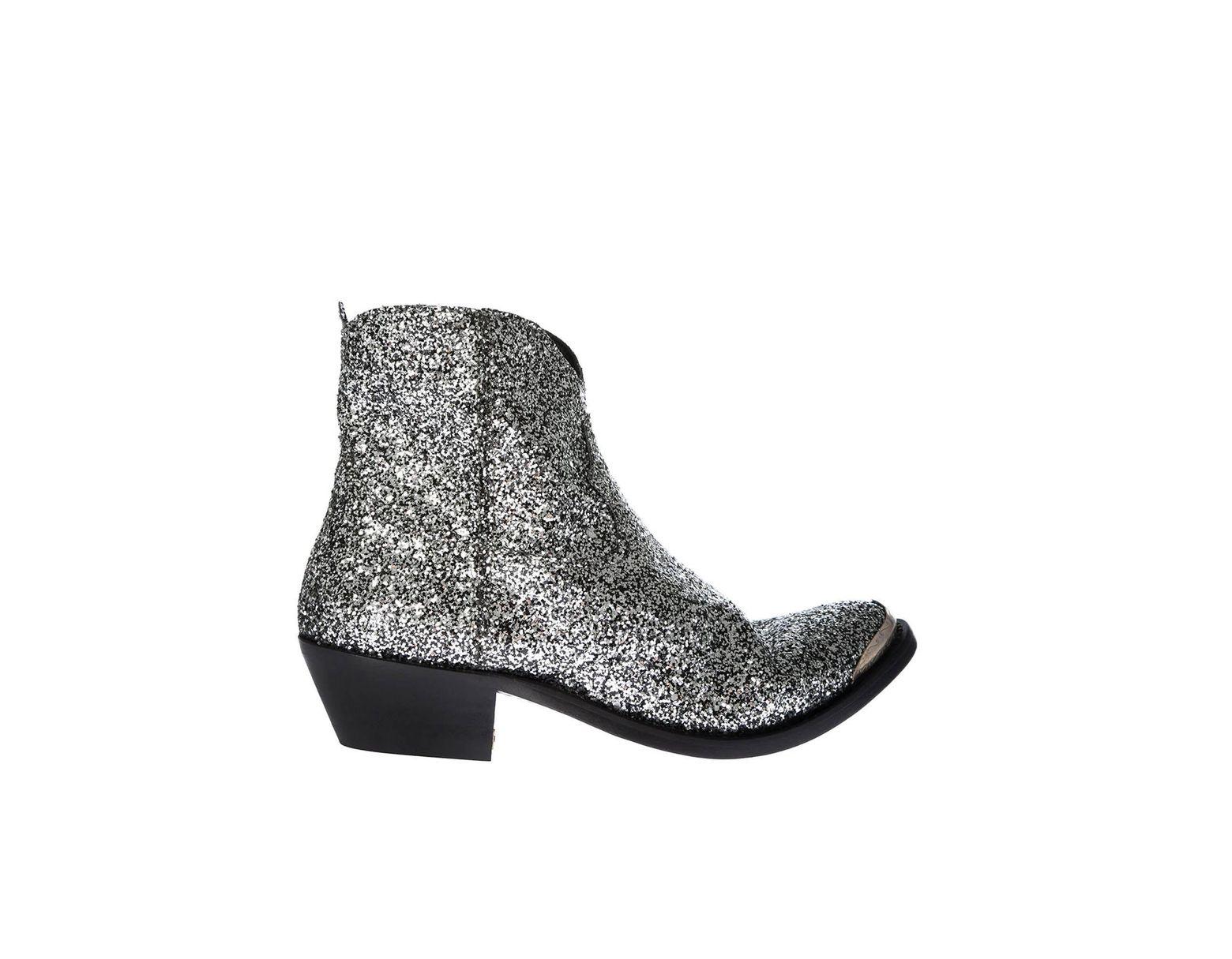 5e9c88fdd3e Women's Metallic Young Silver Boots With Glitter