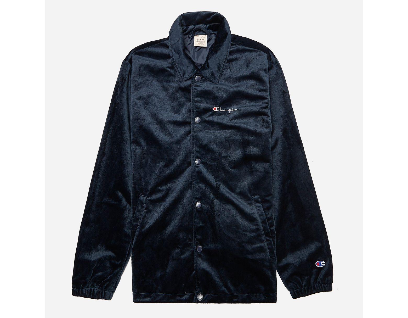 0a67d464a Men's Blue Velour Coach Jacket