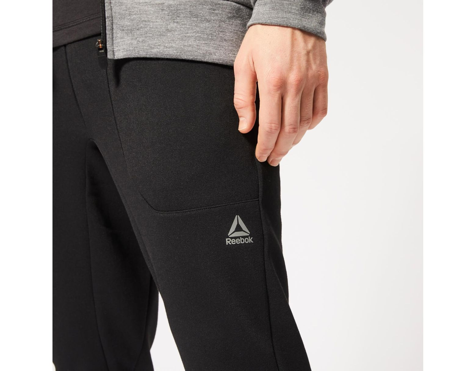 cea63813a8 Men's Black Wor Melange Double Knit Sweatpants