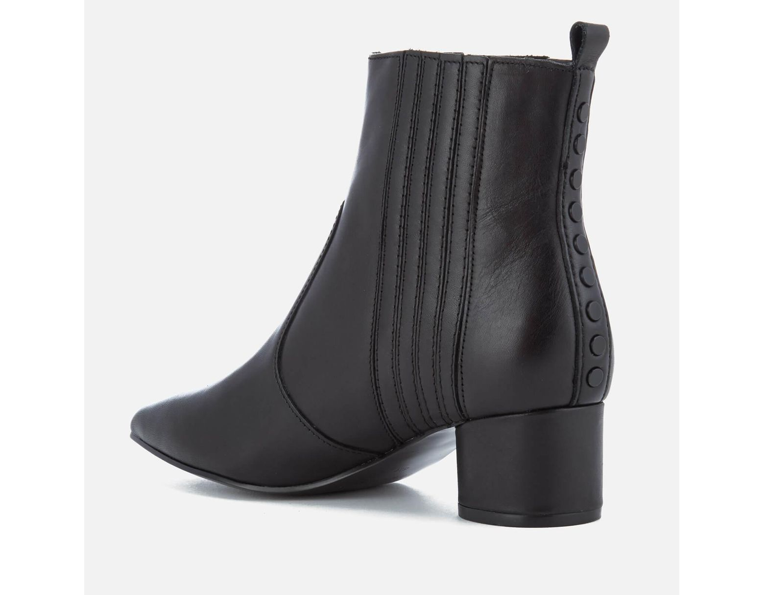 6ddccaa4237a Lyst - Kendall + Kylie Laila Leather Heeled Chelsea Boots in Black