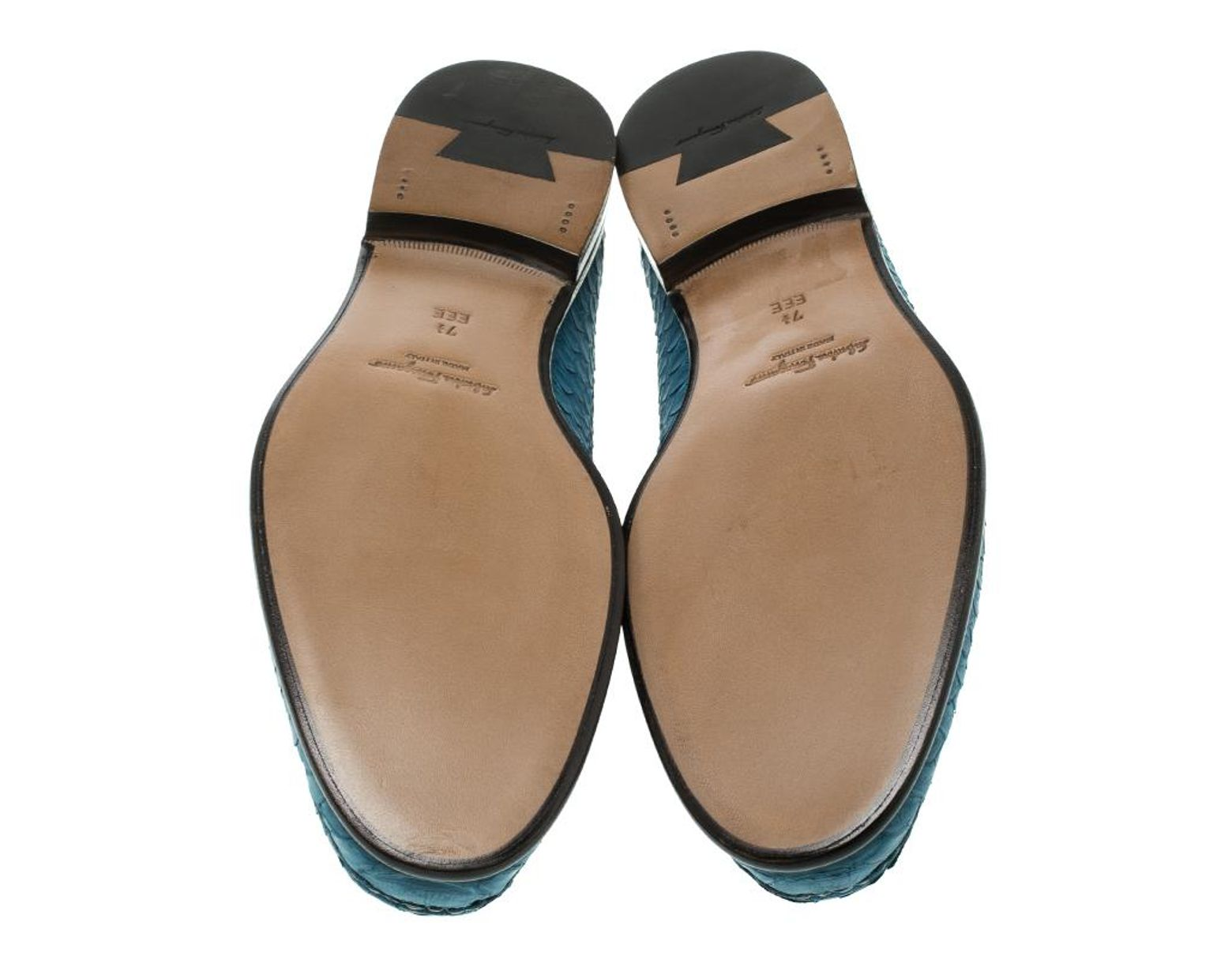 4db79d8e330f8 Ferragamo Blue Python Leather Mason Loafers Size 41.5 in Blue for Men - Lyst
